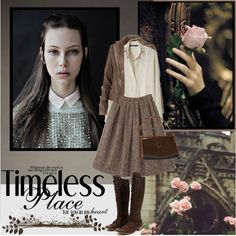 Timeless by pictures-mary on Polyvore featuring Les Prairies de Paris, AllSaints, Charles David, Carven, J.Crew, Sally Scott and Talbots