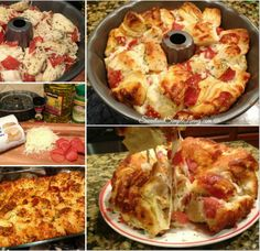 Easy Pullapart Pizza Bread