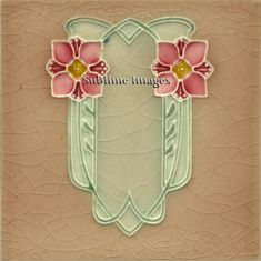 Ceramic Tile 6 inch square Vintage Art Nouveau by SublimeTiles, $12.95