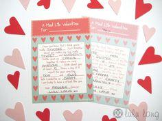 Free Printable Valentine Mad Libs | Valentine's Day Freebie! Printable Mad Lib Valentine's Cards | Lulu ...