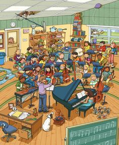 Band Practice by Chuck Dillon, via Behance