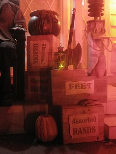 This Halloween, I really wanted to transform the front porch into Frankenstein's laboratory more than any other year. It's always looked fai. Saw Halloween, Asylum Halloween, Halloween Carnival, Halloween Party Decor, Holidays Halloween, Halloween Crafts, Happy Halloween, Halloween Ideas, Halloween Stuff