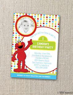 .Elmo Birthday invite
