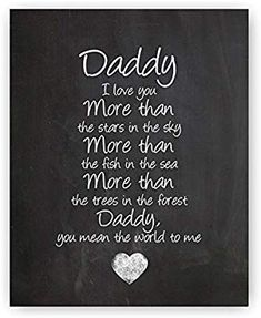 Daddy Poem Chalkboard Print by Ocean Drop Photography - Thoughtful Gift for Dad & the Perfect Father's Day Gift - Beautiful Typography Artwork - Ready to Hang Hanger Included clever fathers day gifts, dad gifts for christmas, mothers day gifts easy Daddy Poems, Fathers Day Poems, Happy Father Day Quotes, Daddy Quotes, Fathers Day Crafts, Quotes For Dad, Poem Quotes, Quotes Kids, Poem On Father
