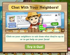 Chatting with your neighbors, one of the newest features in FarmVIle!