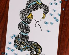 Zentanlge Beauty without the Beast by ZenspireDesigns on Etsy