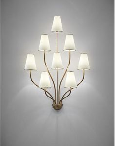 Jean Royère Rare 'Persan' eight-armed wall light
