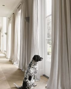 Selecting a curtain style for your new window treatment doesnt have to be confusing. Visit our website where you can plan out the style of curtains for all the rooms in your home or office. You can even order them online too. Pic via Curtains Living, Linen Curtains, Curtains With Blinds, Office Curtains, Curtain Fabric, Window Curtains, Drapery, Cortinas Boho, Home And Living