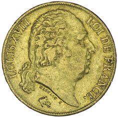 Ludwig XVIII. 1814 - 1824 20 Francs 1818 A Gold
