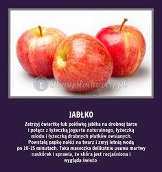 Czy wiecie, że tarte jabłko... Beauty Skin, Health And Beauty, Hair Beauty, Cosmetic Treatments, Diy Spa, Home Spa, Natural Cosmetics, Good To Know, Home Remedies