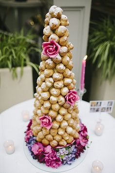 Pretty croquenbouche #food #cake #wedding #party