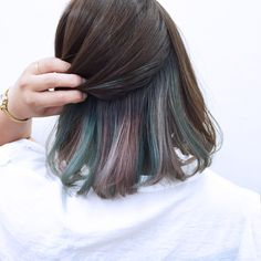 Pinterest: kitkat_xx Under Hair Dye, Under Hair Color, Hair Art, Dyed Hair Underneath, Underlights Hair, Ulzzang, Pigtail, Dye My Hair, Your Hair