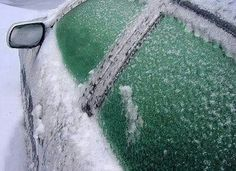 Ice proof your car 2/3 vinegar and 1/3 water, spray on car windows the night before a frost or snow/ice storm