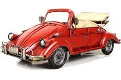 Handmade Antique Tin Model Car-1948 Beetle Convertible