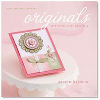 Book Review: Originals: Handcrafted Cards Made Easy by Jeanette R. Lynton CTMH 2008.  Only get if cheap - like measurements/templates but not dirty look.