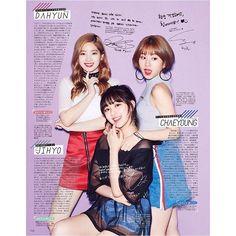 #TWICE in SEVENTEEN Fashion #magazine Japan !!  #Dahyun #Jihyo #Chaeyoung