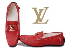 Louis Vuitton Leather Loafer Red 13 Red Loafers, Leather Loafers, Loafers Men, Leather Bag, Louis Vuitton Loafers, Lv Shoes, Prom Shoes, Bags 2015, Red Bottoms