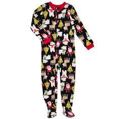 New Carter's Boy Santa Christmas Microfleece Fleece Footed Pajama Sleepwear 5T 5 | eBay