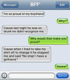 """He could be cheating on her with another girl. That's why he said that... """"stop I have a girlfriend"""""""