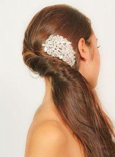 Crystal Bridal hair clip #love #wedding #pretty