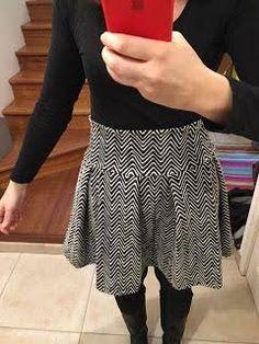 Tuto de la jolie jupe patineuse (modèle femme, taille haute)
