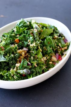 Spring Greens & Grains Salad with Seared Lamb
