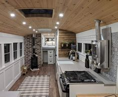Converted school bus camper is a cozy tiny home on wheels - Curbed