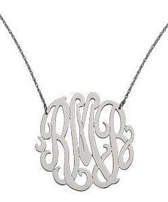 Max & Chloe West Avenue Jewelry Large Monogram Necklace