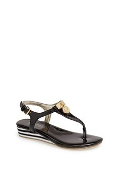 MICHAEL Michael Kors 'Pery Lock' Thong Sandal (Little Kid & Big Kid) available at #Nordstrom