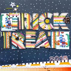 """Pink Paislee """"Trick or Treat"""" Layout"""
