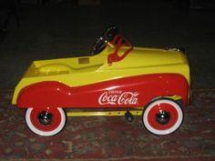 Coca-Cola Die Cast Metal Full Size Child Pedal Car `Replica`