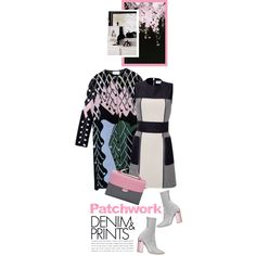 A fashion look from September 2015 featuring dVb Victoria Beckham dresses, Peter Pilotto coats and Fendi shoulder bags. Browse and shop related looks.