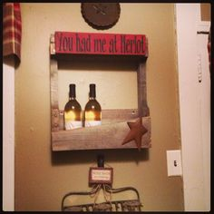 Wine rack made from a pallet