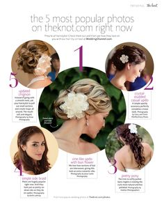 the 5 most popular hairstyle photos on theknot.com right now... yeah #1 :)