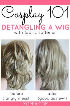 Detangle a Cosplay Wig with fabric softener!