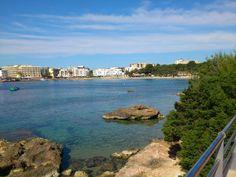 Playa Es Caná / Es Canar en Santa Eulalia del Río, Islas Baleares