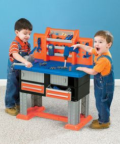 This Deluxe Workbench by American Plastic Toys is perfect! #zulilyfinds