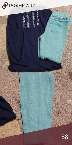 9d8d463f9d907 Shop Kids  Carter s Blue size Matching Sets at a discounted price at  Poshmark. Teal jeggings are sparkly.