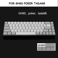 52.63$  Watch now - http://aibmj.worlditems.win/all/product.php?id=32795979150 - White Grey PBT Keycaps 73 Keys Blank for Dsa Tada68 Poker Mechanical Gaming Keyboard