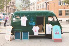 Paris screenprinters turn vintage ice cream truck into mobile studio... http://www.we-heart.com/2014/10/30/print-van-paris-mobile-screenprinting-studio/