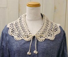 Crochet collar. Free chart by Clover. Click the PDF button at the bottom.