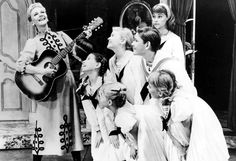 Mary Martin and children in the Broadway production of The Sound of Music