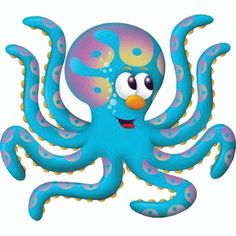 dibujos coloreados de pulpos Clip Art Pictures, Cute Animal Pictures, Crab Art, Cartoon Sea Animals, Sea Illustration, Cute Disney Drawings, Cute Images, Nautical Theme, Sea Creatures