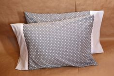 Sweet, soft, handmade pillowcases by Palindrome Dry Goods on Etsy.
