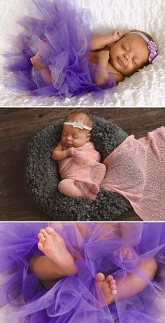 Newborn photography idea: Tulle and Toes  Recreate this adorable baby photography session by accessorizing your photos with Tulle and Headbands. Take the hassle out of baby photos with help from your local JCPenney Portraits.