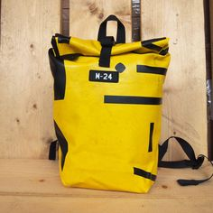 Jerrycan - black and yellow backpack