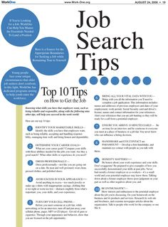 High Quality 10 Job Search Tips, Great For New College Grads Or Anyone Looking To Switch  Jobs.