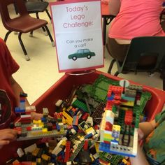 Give kids a #Lego Challenge for a great #STEM activity!