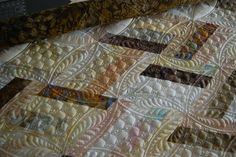 Quilting in diamond shapes