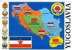 Mapa Ex Yugoslavia Yugoslavia Flag, Bosnia Y Herzegovina, Vintage Italian Posters, Serbia And Montenegro, Cyberpunk Anime, Propaganda Art, Anime Military, Underground Music, History Memes